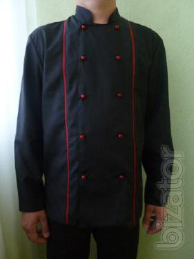 Coat cook suit chef, long sleeve