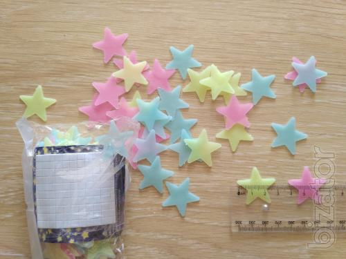 Star phosphate 100 PCs Mixed colors on the ceiling are illuminated at night