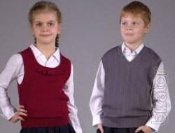 School vest wool