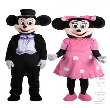 Mickey mouse mascot, in costume