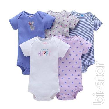 Cheap baby clothes: diapers, bodysuits, sets, men