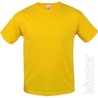 Futbolka male t-shirt yellow