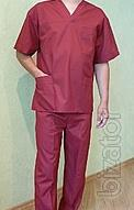 Suit surgical Burgundy