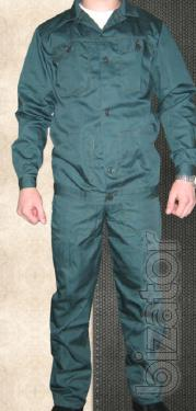 Green winter suit (jacket+bib)