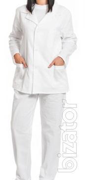 The chef's suit 100% cotton