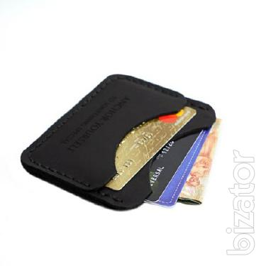 The image + Engraving as a gift! Mens wallet leather business card holder