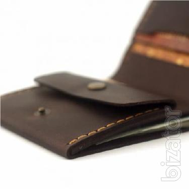 Leather wallet + Gift key chain Men's wallet, purse, Gamanets
