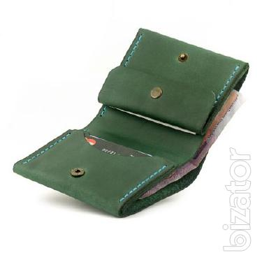 Women's leather Wallet + Gift. Handmade. Woman Gamanets