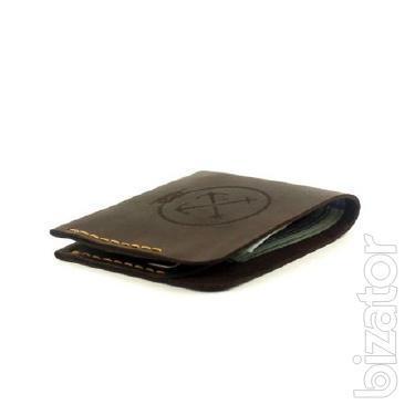 Leather purse Triplet - super compact men's wallet leather