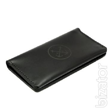 Mens Leather Clutch bag coin Purse leather, Wallet, travel + Gift Bracelet