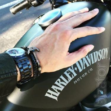 Leather Bracelet - 40% off Men's bracelet hand braided, leather