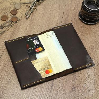 Passport cover leather case for documents, organizer, dickholder