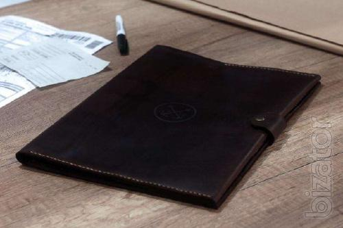Clutch Organizer. Leather Folder for Maritime documents, a folder of a sailor