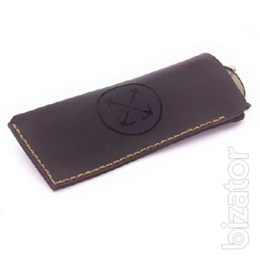Case / glasses Case leather handmade (skin) + Gift