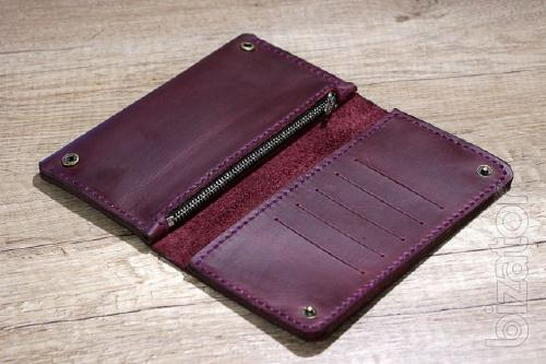 Womens Leather Clutch bag, Purse, Traveler leather + Gift Bracelet
