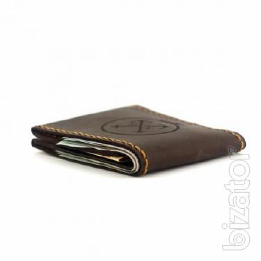Slim leather wallet - men's small purse wallet +Gift