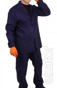 The suit is for work Diagonal 100% cotton