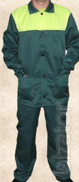 Working suit green with lemon yoke