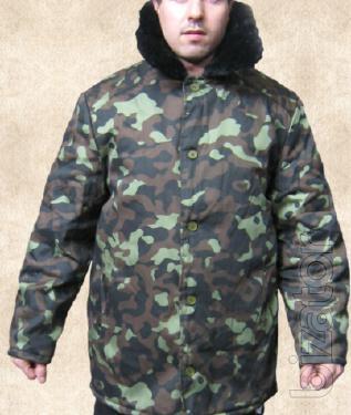 Wadded jacket camouflage