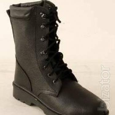 Leather boot molded sole