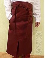 apron chefs long Burgundy