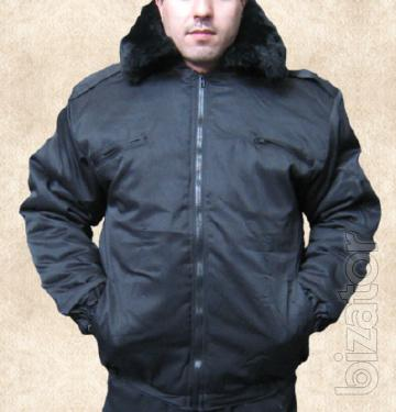 Winter jacket Protection with a fur collar