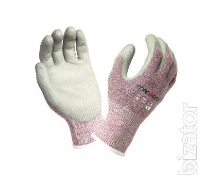 Gloves KVL-TECH with PU coating, Mango
