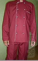 Suit chef Burgundy color