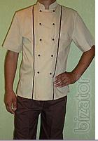 Suit for chef short sleeve