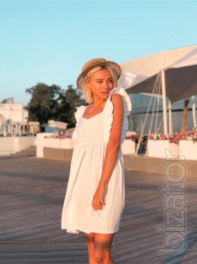 stylish Women's summer dress flared from the breast