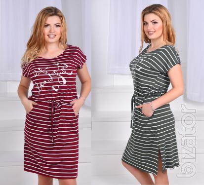 Summer dress striped floor Batal 50-54
