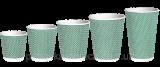 Corrugated cups Green dot RUFFLE 110ml