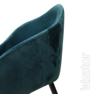 Bar stool with metal legs