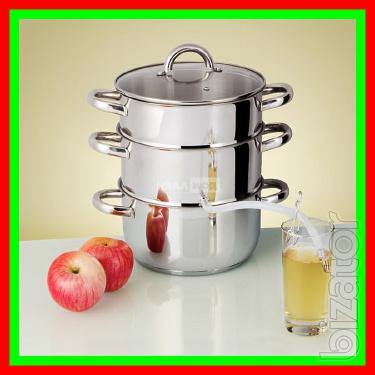 Sokovarka for the evaporation of juices from various fruits and berries.