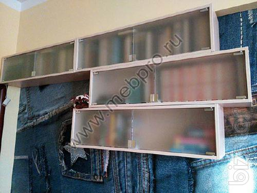 Bookshelves with glass to order
