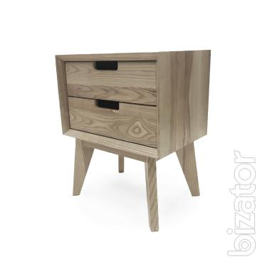 Bedside table made of ash