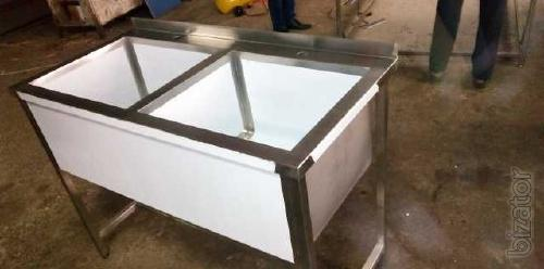 Table kitchen, stainless steel catering