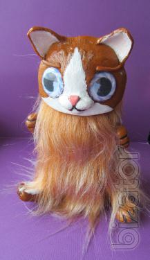 Interior toy handmade Red kitty