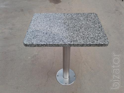 Table for dining with BU granite, granite tables are used, table granite