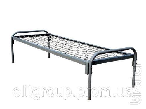 Odnostolpnaya bed, metal bed
