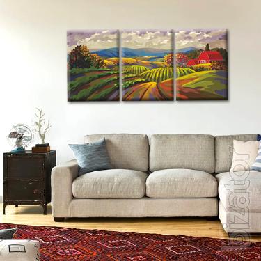 Modular paintings on canvas Glozis