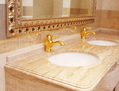 Italian products of marble mosaic, bath tubs, tiles, countertops, sinks