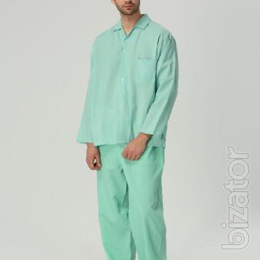 Coarse calico pajamas for men