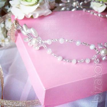 Halo -bride-flexible headband-twig-free shipping