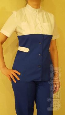 The medical women's costume, blue