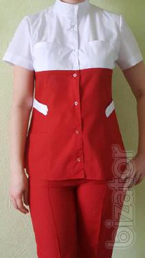 The medical women's costume, red