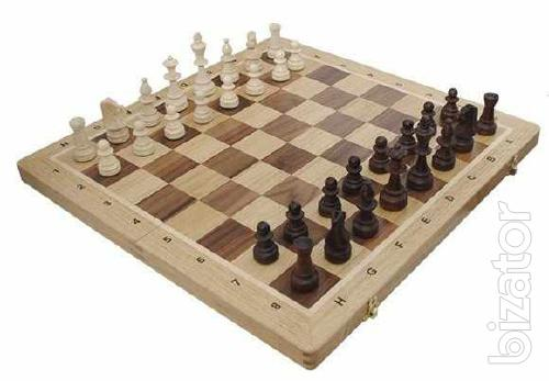 Polish wooden chess set