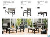 Garden furniture Montero Triple Seat Bench rattan Allibert, Keter