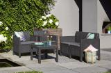 Chicago garden furniture Set With Small Table Allibert rattan, Keter