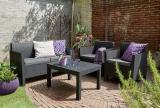 Orlando garden furniture Set With Large Table Allibert rattan, Keter